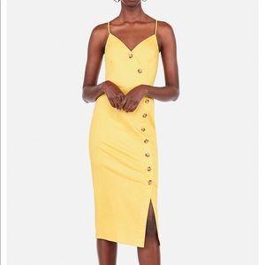 ce9f20f03a1 Express · Asymmetrical Button Front Dress